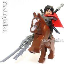 Lego Three Kingdoms Custom Lu Bu Minifigure & Horse 三国の吕布 方天畫戟 獸面吞頭連環鎧 と 赤兔 NEW