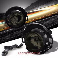 Smoke Lens Chrome Housing Fog Light/Lamp Kit For Nissan 08-15 Frontier/Xterra