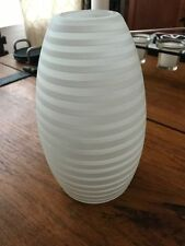 Pendant Light Replacement Glass White/Frosted Swirl