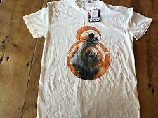 $38 STAR WARS Junk Food T Shirt L Force Awakens BB-8 R2-D2 Rare thin NWT NEW