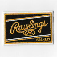 Rawlings I Baseball Softball Glove iron on patch embroidered patches Black Gold