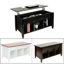 New Lift Top Coffee Table with Hidden Storage and Lower Shelf Living Room