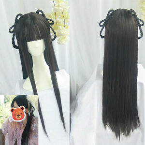 Chinese Ancient Whole Hair Wig Maid Hairpiece Headware Custom For Hanfu Cosplay