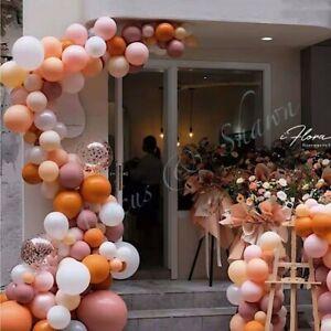 141PCS Dusty Rose Balloon Arch Kit Garland Birthday Wedding Party DIY Decoration