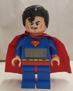 LEGO DC Comics Super Heroes Superman Alarm Clock #9005701 c2013 Discontinued