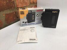 Sanyo MGP 921 estéreo reproductor de Cassette en caja Vintage Retro Negro/Probado