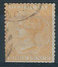 K026) Bermuda. 1865/03. Used. SG 5 3d Yellow-buff. c£65+