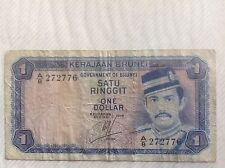 BRUNEI 1972, 1 DOLLAR SERIES A/8 BANKNOTE