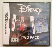 FROZEN + BIG HERO 6 BATTLE IN THE BAY NINTENDO DS TWIN GAME SET new & sealed !
