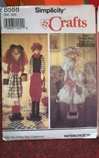 Simplicity 8588 Crafts Pattern Dowel Dolls With Clothes Cotton Way Collection