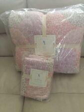 2pc NWT Pottery Barn Kids Leila Whole-cloth quilt&Euro shams set Pink Twin