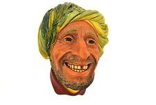 "Bossons Chalkware ""Persain Arab Sheik"" 5.25"" Head Bust England w/ Tag"