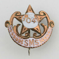 Antique Medical School Pin c. 1904 - Rolled Gold Vintage Lapel Collectible SMS