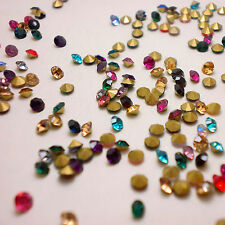 SS9.5 (2.6mm) Mixed Colors Rhinestones Point Back Chaton Crystal Glass 720 U1