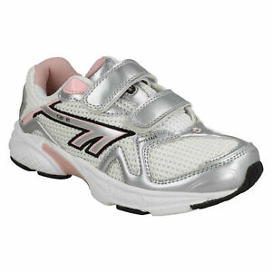 R157 JRG EZ GIRLS HI-TEC CASUAL HOOK AND LOOP STRAP EVERYDAY TRAINERS SHOES