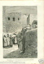 Surmek Gate Fortress Iran Persia Perse GRAVURE ANTIQUE OLD PRINT 1884