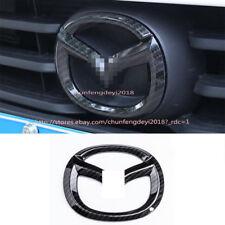 1P[CS Carbon fiber pattern  Car Logo For Mazda 3 AXELA 2017