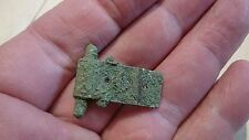 Very rare stunningly detailed Roman Bronze buckle plate once Gold Guilded Uk L6o