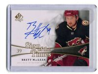 2011-12 UD Sign of the Times #SOT-MA Brett MacLean Coyotes Autographed jh12