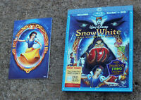 Snow White and the Seven Dwarfs (Blu-ray/DVD, 2009, 3-Disc Set) with Slipcover