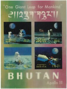 Bhutan.  1969.  Apollo 11 Miniature sheet.  MH.  Scott 108 n.
