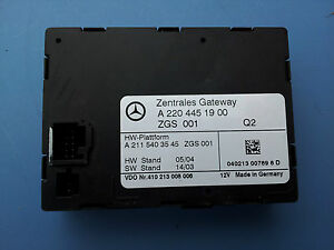 MERCEDES-BENZ W220 S430 S500  MULTIFUNCTION CONTROL MODULE 2204451900