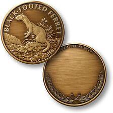 Black-Footed Ferret Challenge Coin Wildlife Token Bronze Endangered Species