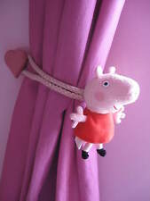 PEPPA PIG CHILDRENS BEDROOM CURTAIN TIE BACKS (pair)