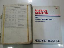 1987 Nissan Sentra Service Repair Shop Manual SET Factory OEM Books DAMAGED 87