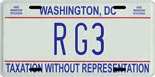 Robert Griffen III Washington Redskins RG3 metal D.C. License plate