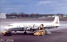 Eastern Airlines DC-7 jet  airplane postcard