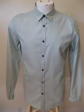 DKNY Jeans Mens Green Stripe Casual Dress Shirt S Modern Fit Cotton NEW $60
