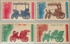 Niger 1975 473-76 323-26 Early Cars automobiles voitures peugot Daimler FIAT MNH