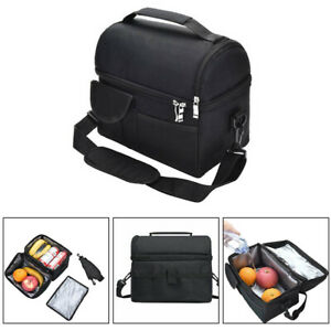 Adult Kids Men Large Insulated Lunch Bag Thermal Cool Hot Food Storage Tote Box