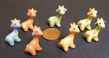Single Ceramic Multi Coloured Giraffe Tumdee Dolls House Miniature Ornament
