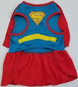 MM) Top Paw Pet Halloween Supergirl Small Dog Costume Size Medium