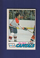 Bill Riley RC 1977-78 O-PEE-CHEE OPC Hockey #360 (EX) Washington Capitals