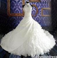 New White / Ivory Wedding Dress Bridal Gown Custom Size 6 8 10 12 14 16+++