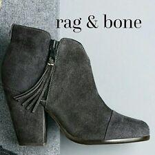 rag & bone 'Margot' Fringe Cap Toe Grey Bootie Size 37 $525 Sold Out