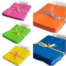 30 Papiertragetaschen Papiertüten Papiertaschen Tüten 5 Farben gemischt 18x8x22