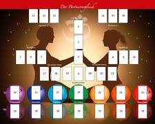 Legeschablone Partnervergleich neu new Tarot Orakelkarten Kartendeck