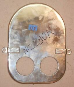 NORTON COMMANDO 750 air cleaner front cover plate NICE used, CHROMED - U5