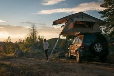 Camping Overhead Roof Top Mount Tent and Ladder Jeep Off-Road Truck Camping 4x4