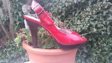 RED PATENT SANDALS £29.99 TAGS WORN TWICE