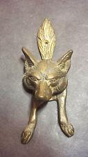 Antique Brass Wolf Door Knocker