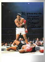 Earnie Shavers vs Muhammad Ali w inscription Ali gave me the nickname The Acorn