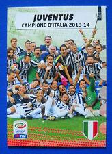 CARD CALCIATORI PANINI ADRENALYN 2014/15 2015 N.2 - JUVENTUS CAMPIONE 2013-14