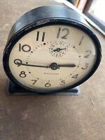 Westclox Raven Windup Alarm Clock ca. 1944-1947 Works