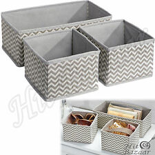 CUBE BOXES DRAWER STORAGE Set Of 3 Organizer Closet Underwear Socks Containers