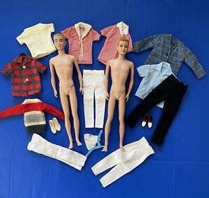 Vintage Ken Dolls & Clothes 1960 Mattel Japan